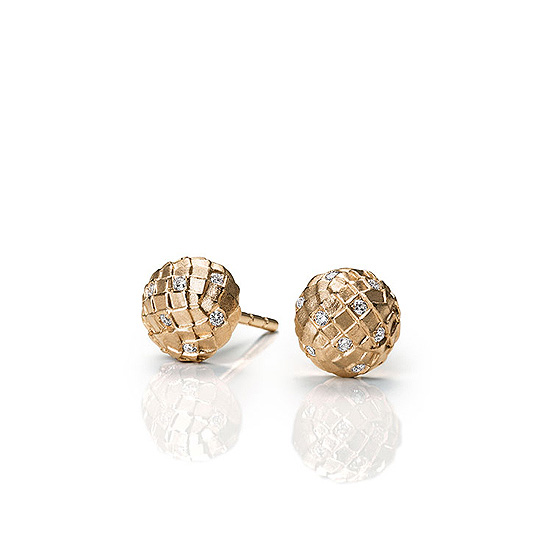 SNAKESKIN POINT STUD EARRINGS