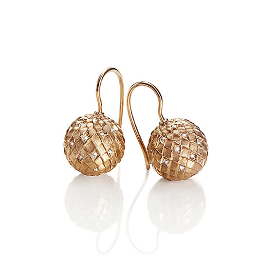 SNAKESKIN GLOBE EARRINGS